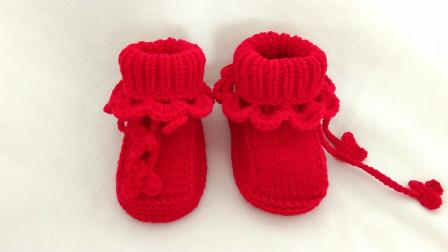 爱剪辑-棒针卡通鞋子通用鞋身教程全集毛线最新织法
