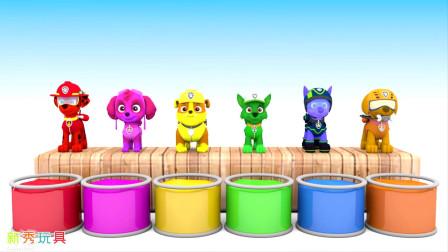 狗狗巡逻队变身,汪汪队立大功学颜色,儿歌童谣儿童亲子趣味游戏玩具动画短片