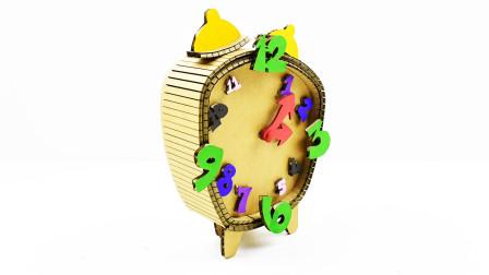 纸板还能这么用!用它做的闹钟简直不要太像,关键还准时