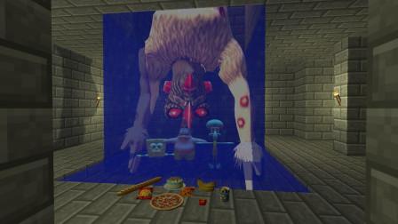 GMOD游戏小黑给怪兽零食吃会把海绵宝宝放了吗?
