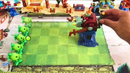 我的世界动画-乐高版植物战丧尸