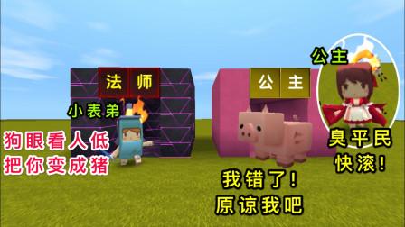 迷你世界:小表弟向公主表白 ,却被拒绝了,结果把公主变成了猪