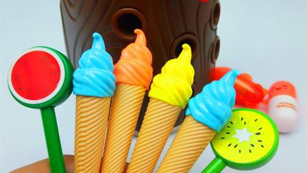大树伯伯这里有好多假的冰激凌和棒棒糖