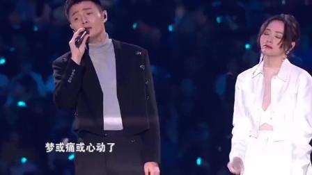 李荣浩张靓颖合唱《你不是真正的快乐》真正的神仙组合,太完美了