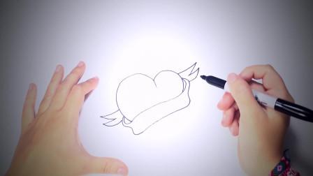 儿童简笔画:如何一步一步画出可爱的心_可爱的心画课 简笔画教学视频