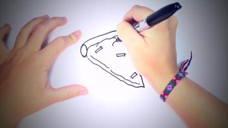 儿童简笔画:如何为儿童绘制披萨_披萨片轻松绘制教程 简笔画教学视频