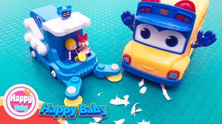 嘟当曼:变身扫地车,0-3岁宝宝启蒙英语(玩玩具学英语)