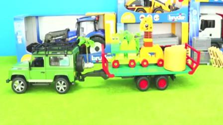 卡通农场机械车玩具模型