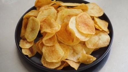 大厨教你在家炸薯片,薯片酥脆不回软,做法还简单家常