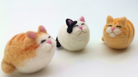 伊凡羊毛毡胖墩猫教学