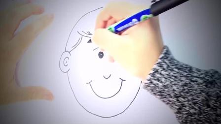 儿童简笔画:如何为孩子们画一个男孩 简笔画教学视频