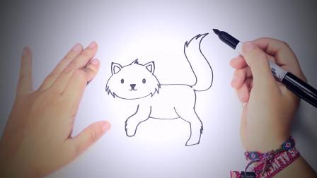 儿童简笔画:如何为孩子画猫_猫易画教程 简笔画教学视频