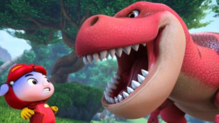 猪猪侠进入恐龙世界遇到三角龙怎么办?