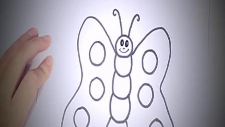 儿童简笔画:如何为孩子画蝴蝶_简单的蝴蝶画教程 简笔画教学视频