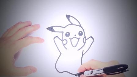儿童简笔画:如何为孩子画皮卡丘_皮卡丘简易绘画教程 简笔画教学视频