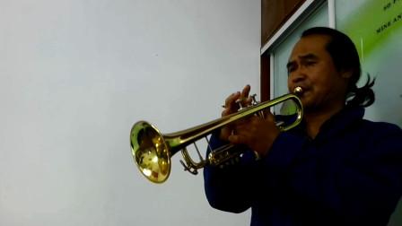 小号演奏《心上的罗加》,原版伴奏C调