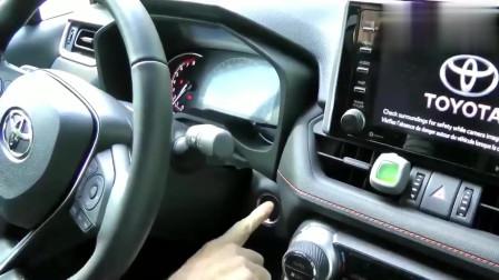 新车到店的2020款丰田RAV4荣放,按下钥匙坐进驾驶室后,才知道霸气开启了!