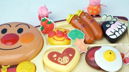面包超人快餐店小猪佩奇动画片