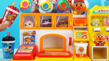 面包超人麦当劳汉堡包和薯条店过家家玩具