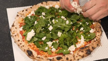 意大利风味,芝麻菜芝士披萨,看看制作过程