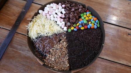 怪物美食工厂:火爆印尼的彩虹黄油蛋糕,果然是名不虚传的高颜值!