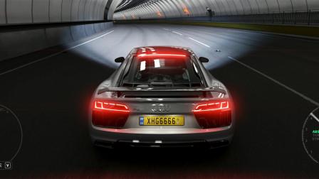 地平线4:5.2 V10发动机 试驾奥迪R8超级跑车