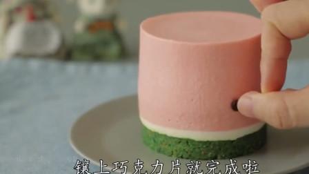 不用烤箱能做的蛋糕,免烤西瓜奶酪蛋糕,好吃不甜腻