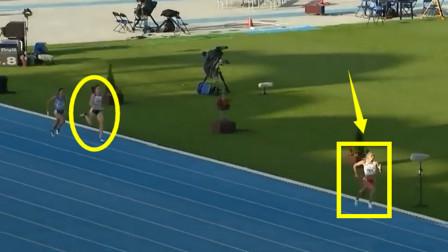 非人类?前三棒被逆转,结果最后女飞人爆发赢对手10米夺冠破纪录