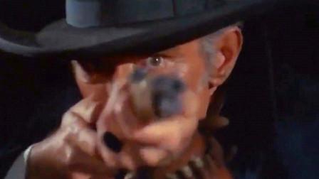 意大利经典西部枪战动作片,枪王萨巴塔夜袭牧场除恶霸