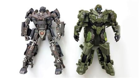 两款变形金刚WW2系列二战大黄蜂SS26和TW-FS03机器人变形玩具