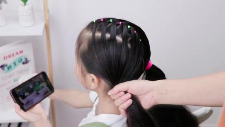 不会给女儿编辫子不要紧,可以帮她这样扎发型,漂亮易学,1分钟学会