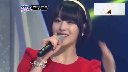 f(x)雪莉《1, 2, 3》圣诞舞台,穿红衣服的宋茜实在是太甜美可爱了