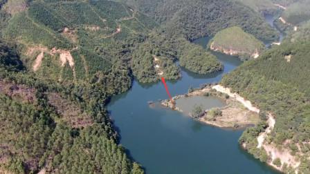 此地就像只大乌龟,面朝水库来龙千里,你看这格局是灵龟入水吗
