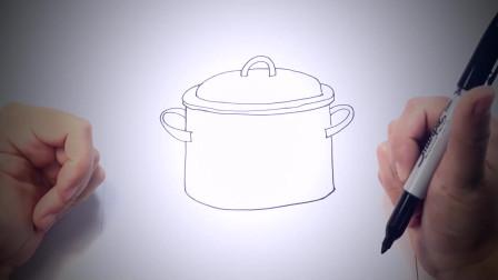 儿童简笔画:如何画炊具_炊具简易绘画教程 简笔画教学视频