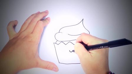 儿童简笔画:如何绘制卡哇伊蛋糕_卡哇伊蛋糕易绘制教程 简笔画教学视频