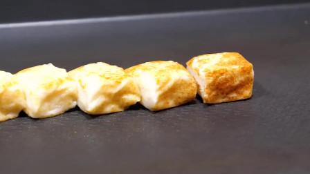 韩国街头小吃 烤马苏里拉奶酪