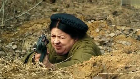 经典二战片,德军特务炸毁油罐车,列兵大妈紧急还击