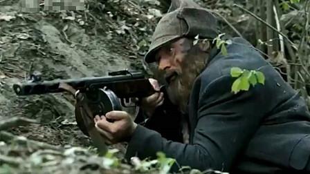 经典二战片,苏军突击队丛林埋地雷,把德军车队一网打尽