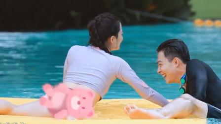 徐璐不顾生理期潜水,有谁注意她出水时裤子的颜色?摄像师反应太快!