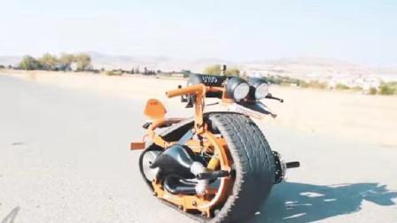 这才是真正厉害,小伙制造一台齿条单轮车,看完让人大开眼界