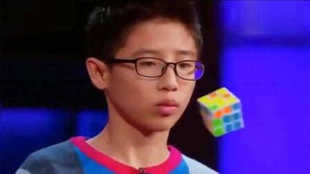 美国达人秀上玩魔方的中国小男孩,厉害了