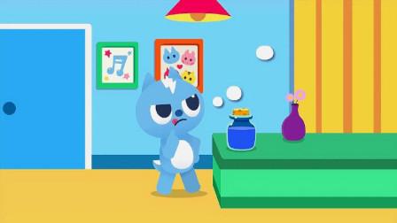 迷你特工队趣味动画-弗特用彩泥做小动物_动物的英语怎么表达呢
