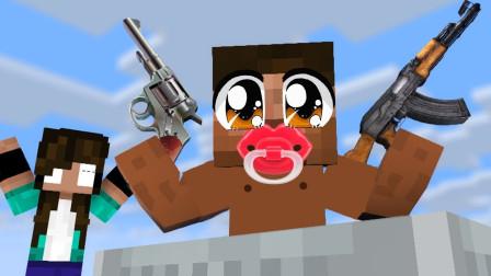 我的世界MC动画:怪物学院 英雄宝宝你好厉害