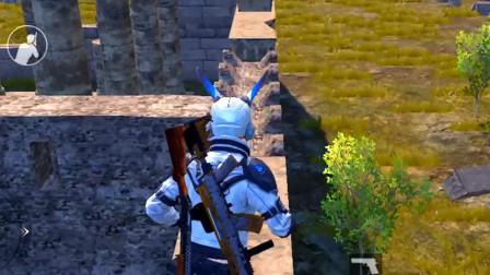 和平精英:教你上废墟高处点位,打的敌人一脸懵!