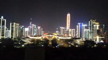 莲花山公园山顶夜景