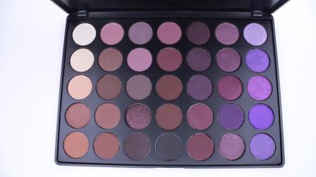 这盘紫色系眼影,足足有35色,色调超美,打造精致眼妆就靠它了
