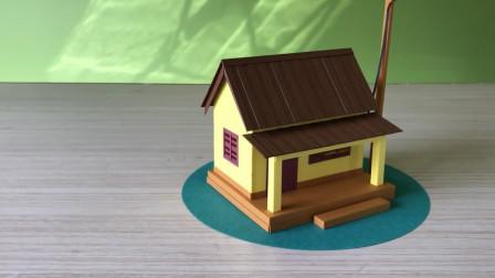 轻轻松松学手工,看看如何用卡纸制作模型,简单又漂亮!