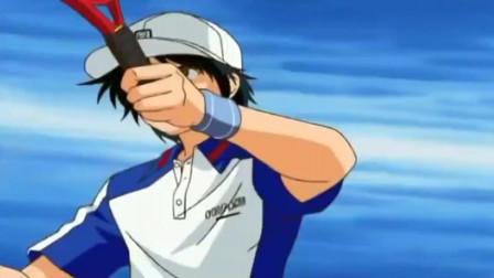 网球王子:龙马在空中竟换手将球打了回去,这是传说中的二刀流