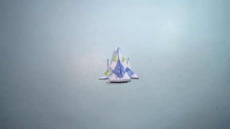 手工折纸教程,迷你战斗机的折法,步骤简单一学就会