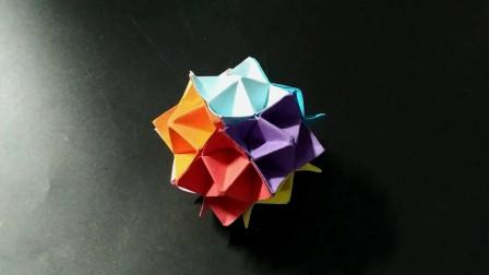 手工折纸:简单漂亮的小花球,亲子互动一起来折吧!